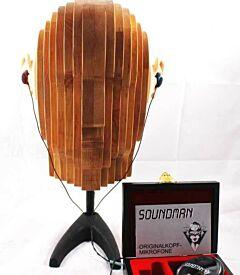 "132062 Soundman OKM-Kunsthoofd ""John Alder Complete"" Elzenhout + PPA-adapter & OKM-II Classic."